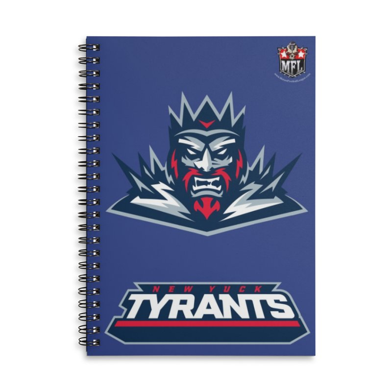 MFL New Yuck Tyrants notebook Accessories Lined Spiral Notebook by Mutant Football League Team Store