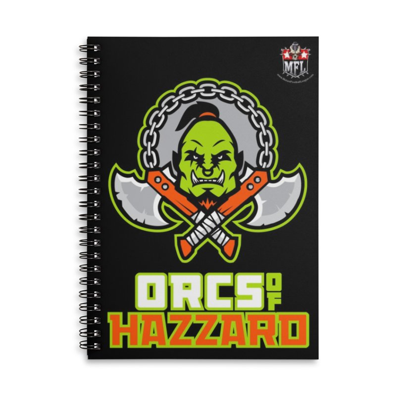MFL Orcs of Hazzard notebook Accessories Lined Spiral Notebook by Mutant Football League Team Store