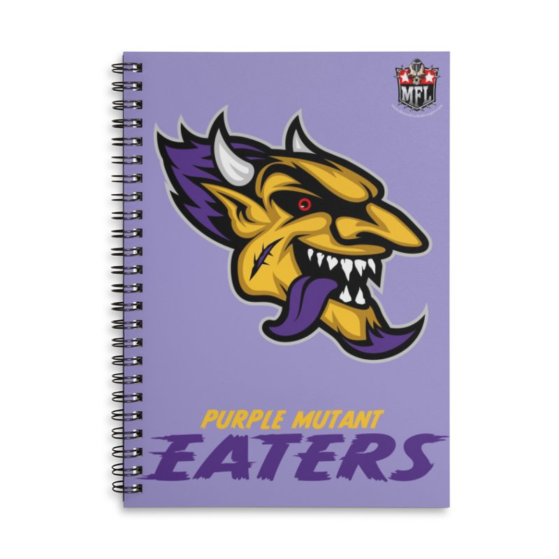 MFL Purple Mutant Eaters notebook Accessories Lined Spiral Notebook by Mutant Football League Team Store