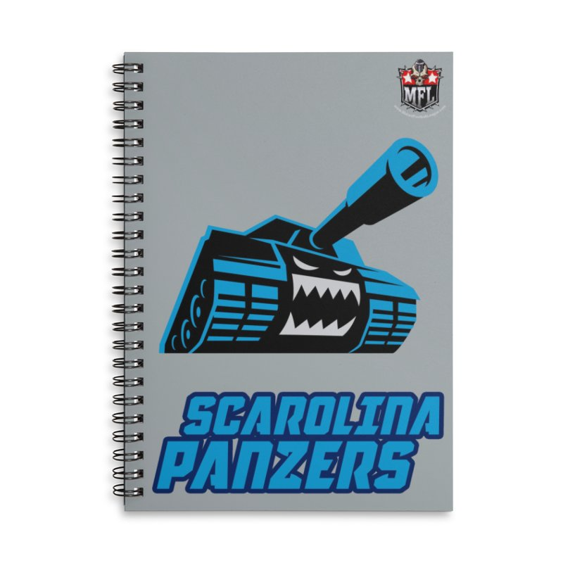 MFL Scarolina Panzers notebook Accessories Lined Spiral Notebook by Mutant Football League Team Store