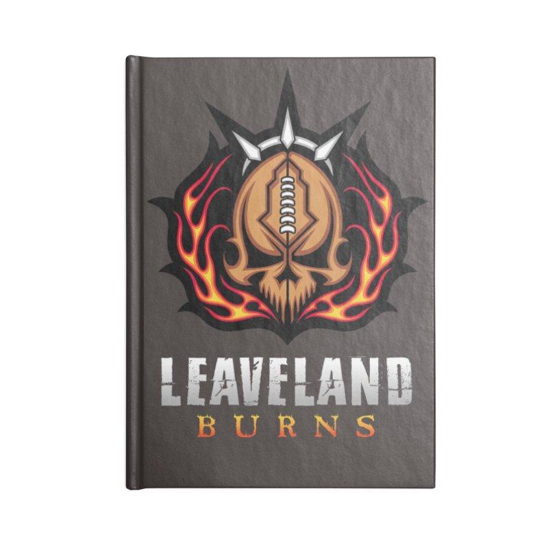 MFL Leaveland Burns journal Accessories Blank Journal Notebook by Mutant Football League Team Store