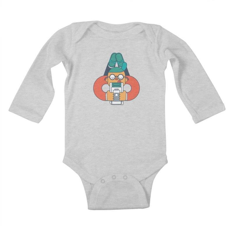 Gameboy Kids Baby Longsleeve Bodysuit by Emporio de Mutanthands