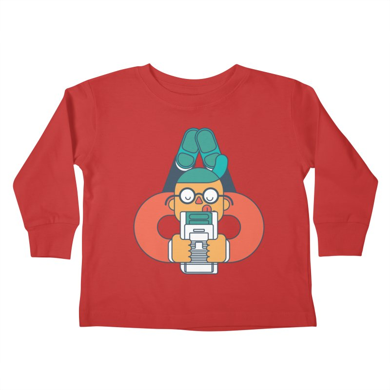 Gameboy Kids Toddler Longsleeve T-Shirt by Emporio de Mutanthands