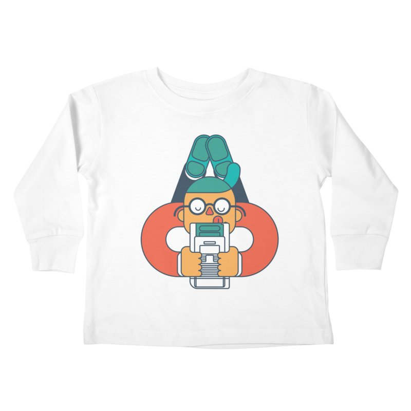 Gameboy Kids Toddler Longsleeve T-Shirt by Emporio de Mutanthands