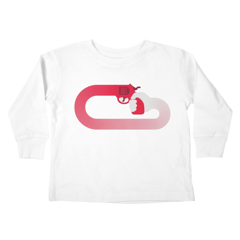HandGun Kids Toddler Longsleeve T-Shirt by Emporio de Mutanthands