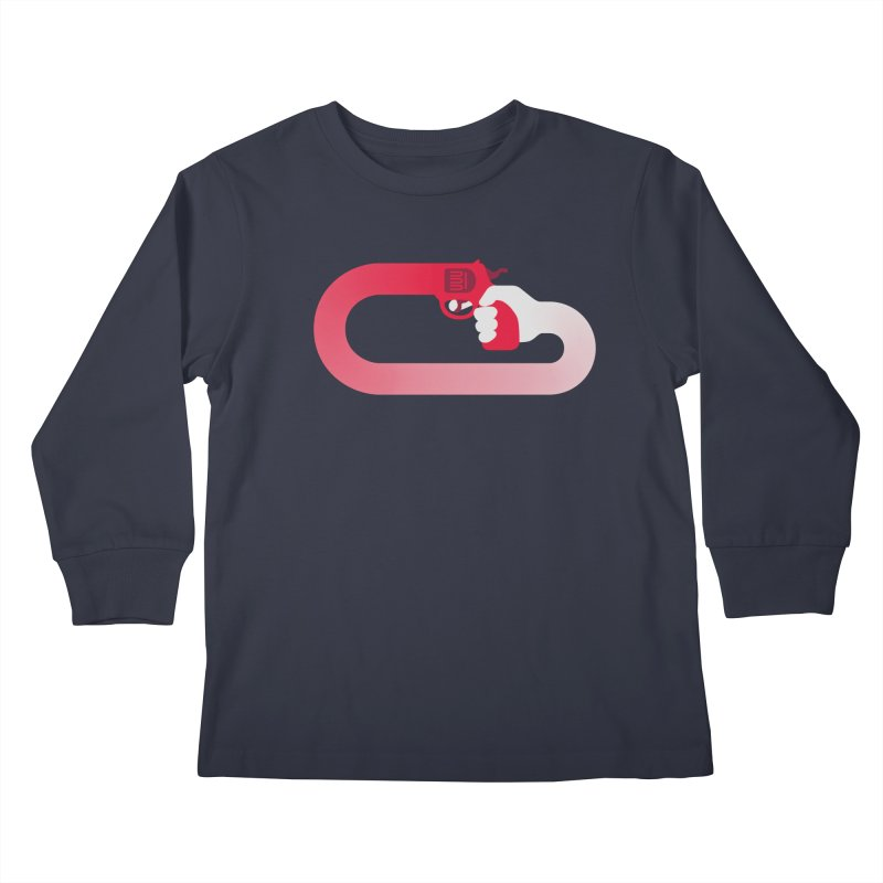 HandGun Kids Longsleeve T-Shirt by Emporio de Mutanthands