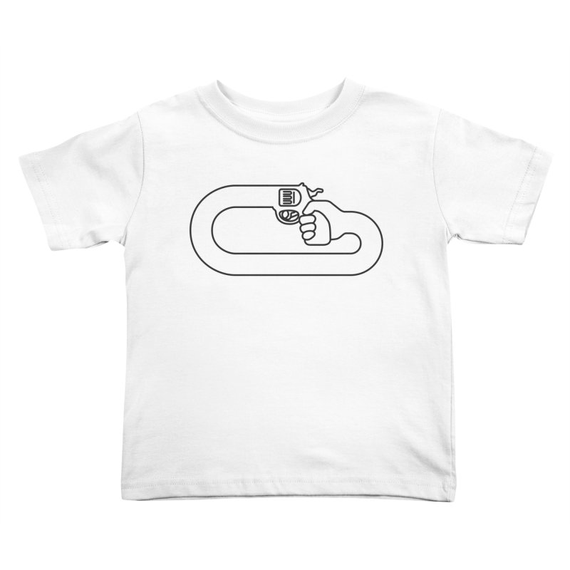 Handgun Simple Kids Toddler T-Shirt by Emporio de Mutanthands