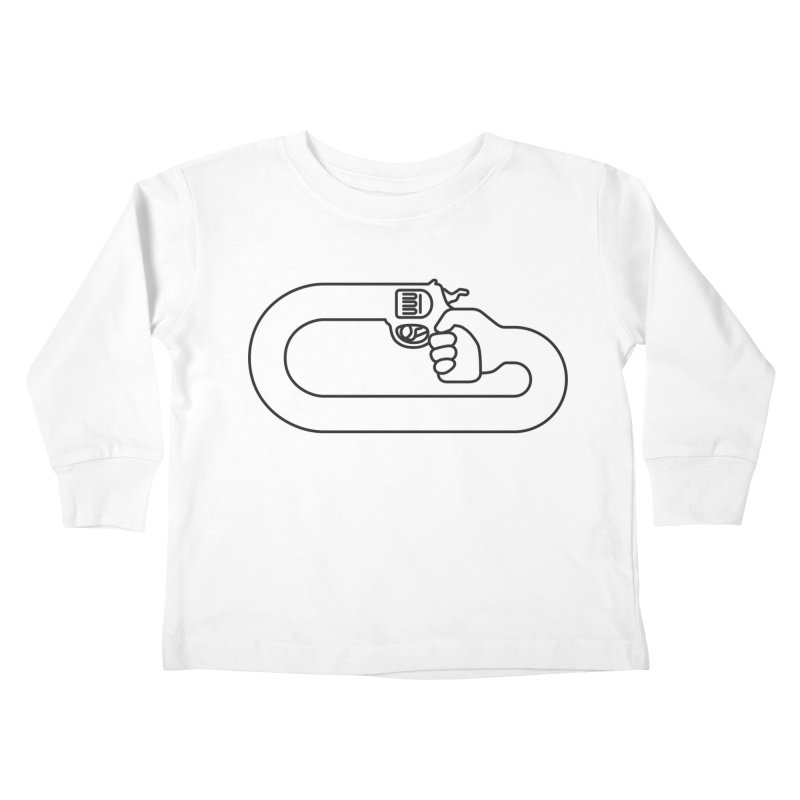 Handgun Simple Kids Toddler Longsleeve T-Shirt by Emporio de Mutanthands