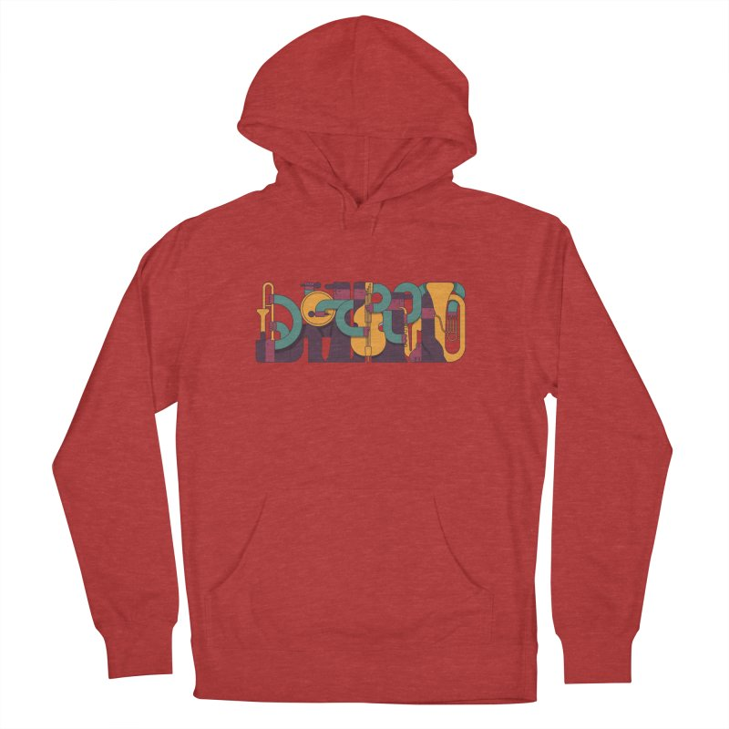 Jazzmatazz Men's French Terry Pullover Hoody by Emporio de Mutanthands