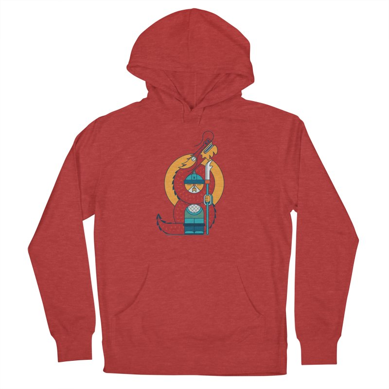 Dragon Warrior Men's French Terry Pullover Hoody by Emporio de Mutanthands