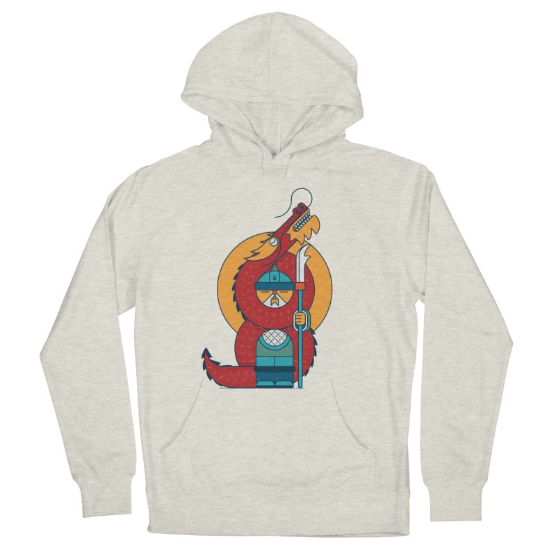 Dragon Warrior Women's French Terry Pullover Hoody by Emporio de Mutanthands
