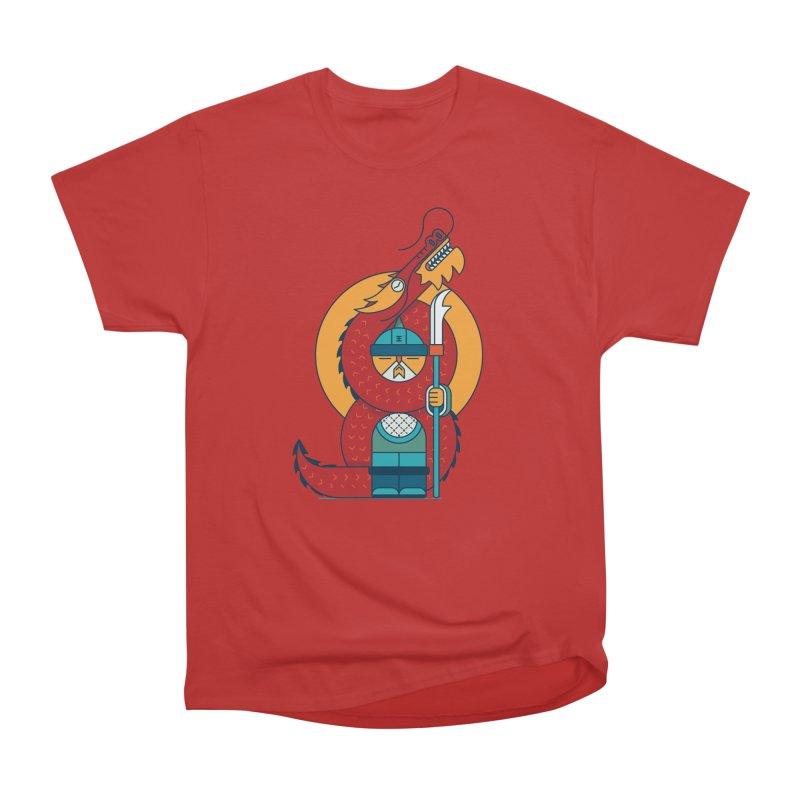 Dragon Warrior Men's Heavyweight T-Shirt by Emporio de Mutanthands