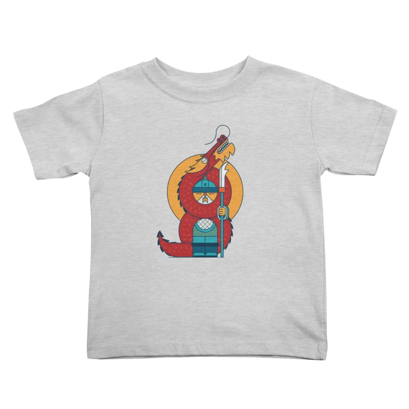 Dragon Warrior Kids Toddler T-Shirt by Emporio de Mutanthands
