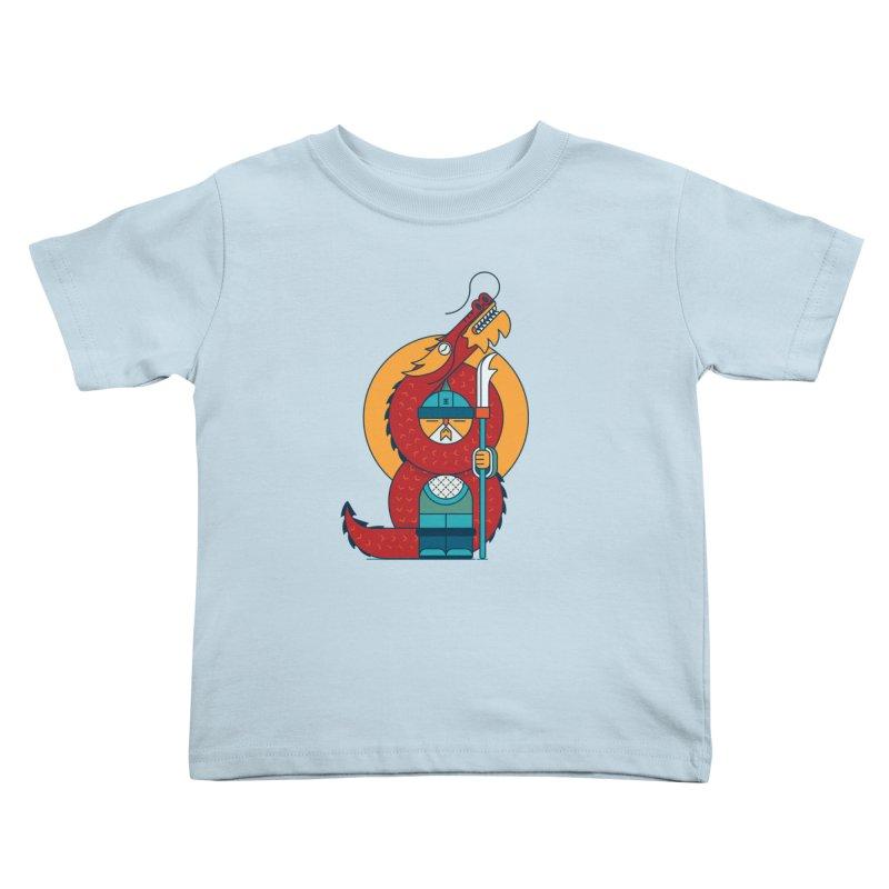 Dragon Warrior Kids Toddler T-Shirt by Emporio de Mutanthands