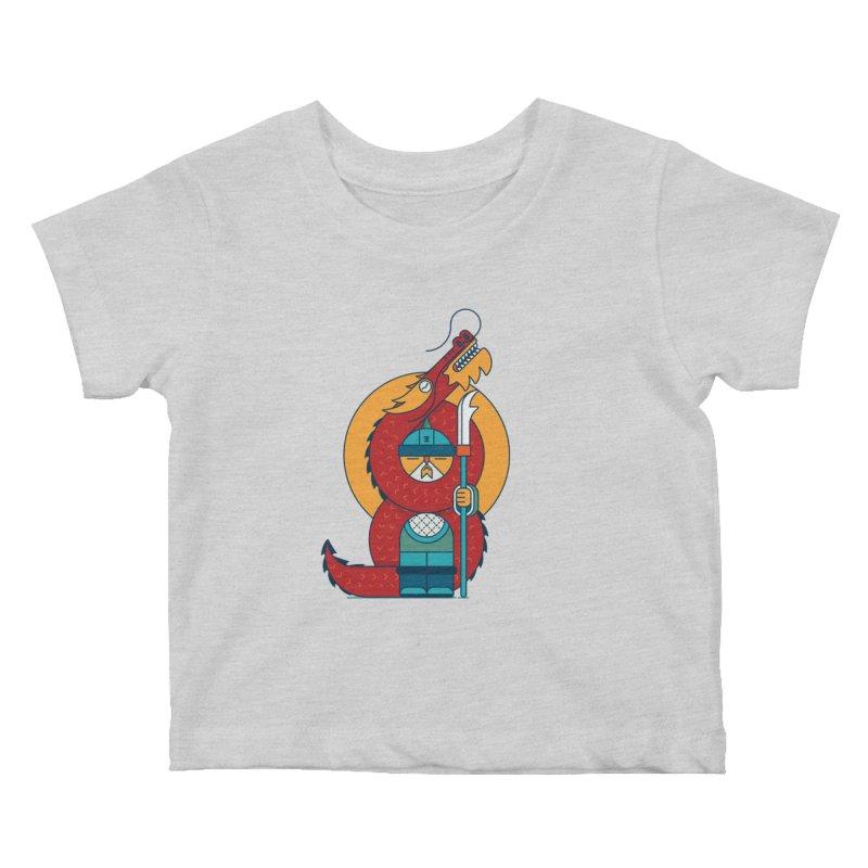 Dragon Warrior Kids Baby T-Shirt by Emporio de Mutanthands
