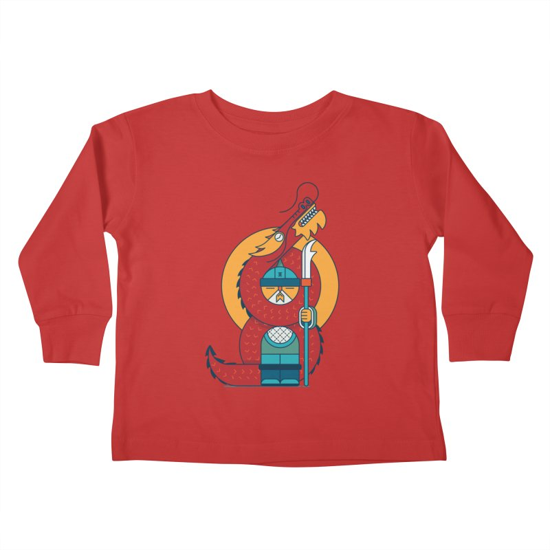 Dragon Warrior Kids Toddler Longsleeve T-Shirt by Emporio de Mutanthands