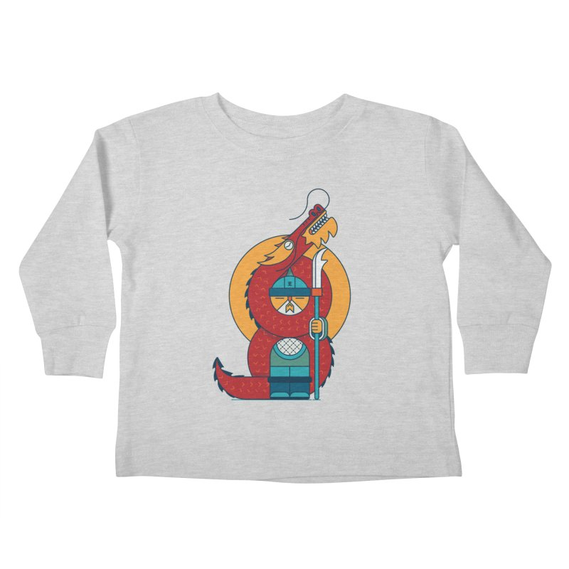 Dragon Warrior Kids Toddler Longsleeve T-Shirt by Emporio de Mutanthands