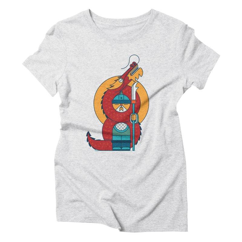 Dragon Warrior Women's Triblend T-Shirt by Emporio de Mutanthands