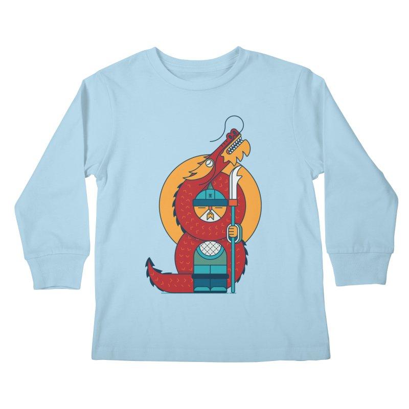 Dragon Warrior Kids Longsleeve T-Shirt by Emporio de Mutanthands