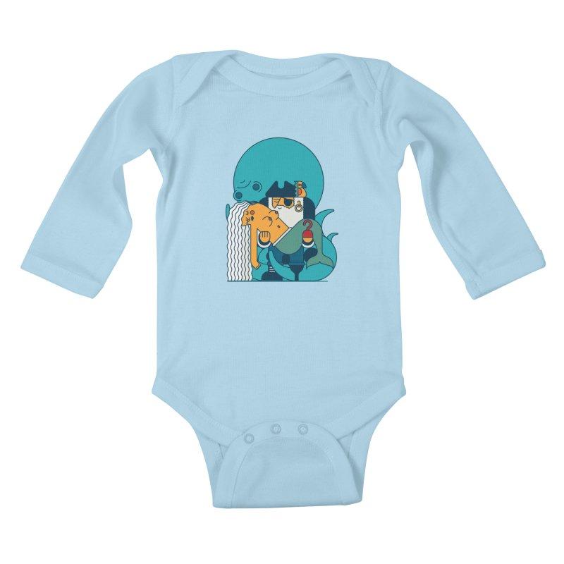 Pirate Kids Baby Longsleeve Bodysuit by Emporio de Mutanthands