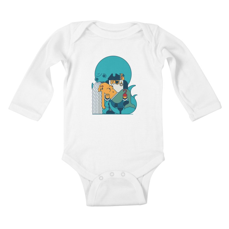 Pirate Kids Baby Longsleeve Bodysuit by Emporio de Mutanthands