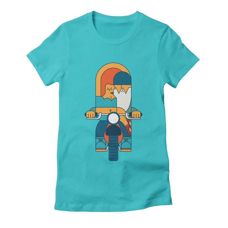 SleezyRider Women's Fitted T-Shirt by Emporio de Mutanthands