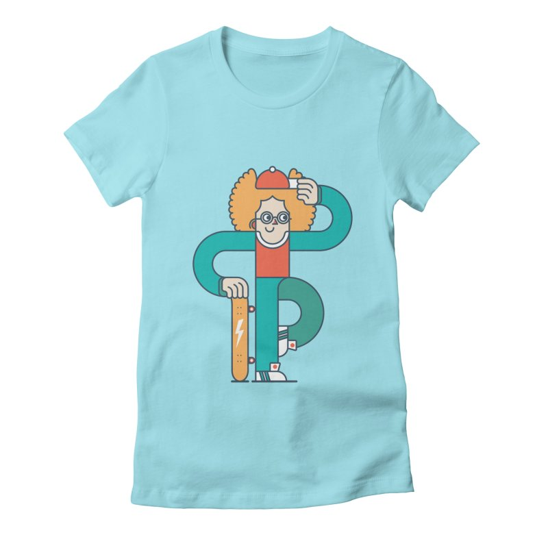 Skaterboy Women's Fitted T-Shirt by Emporio de Mutanthands