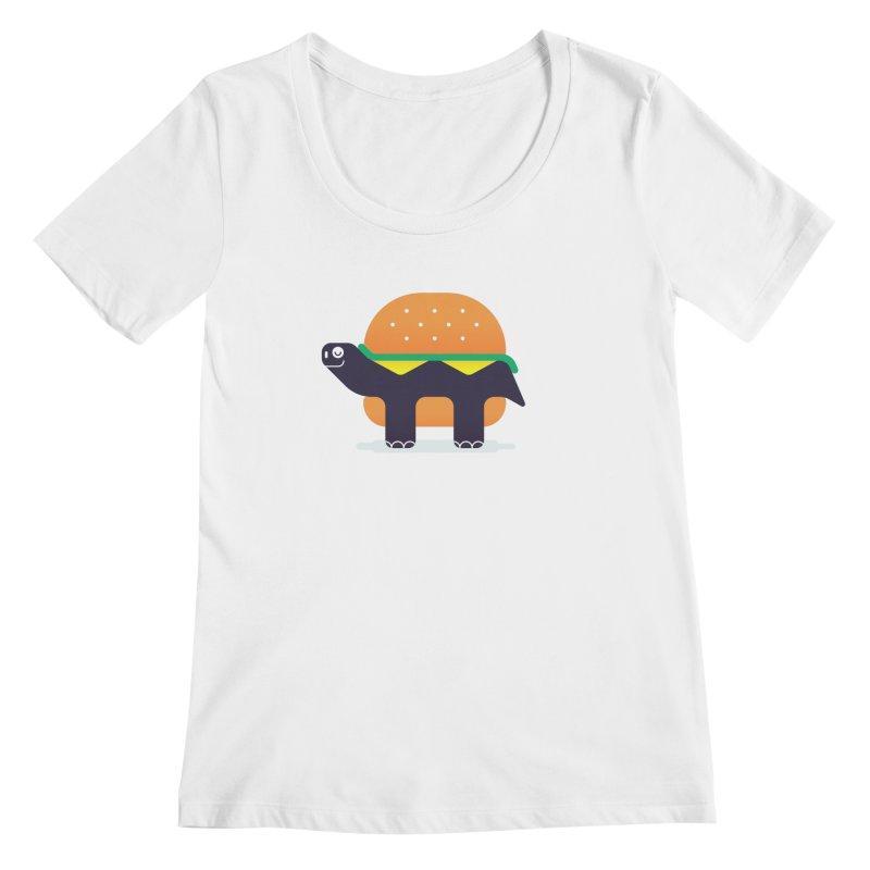Turtle Burger Women's Regular Scoop Neck by Emporio de Mutanthands