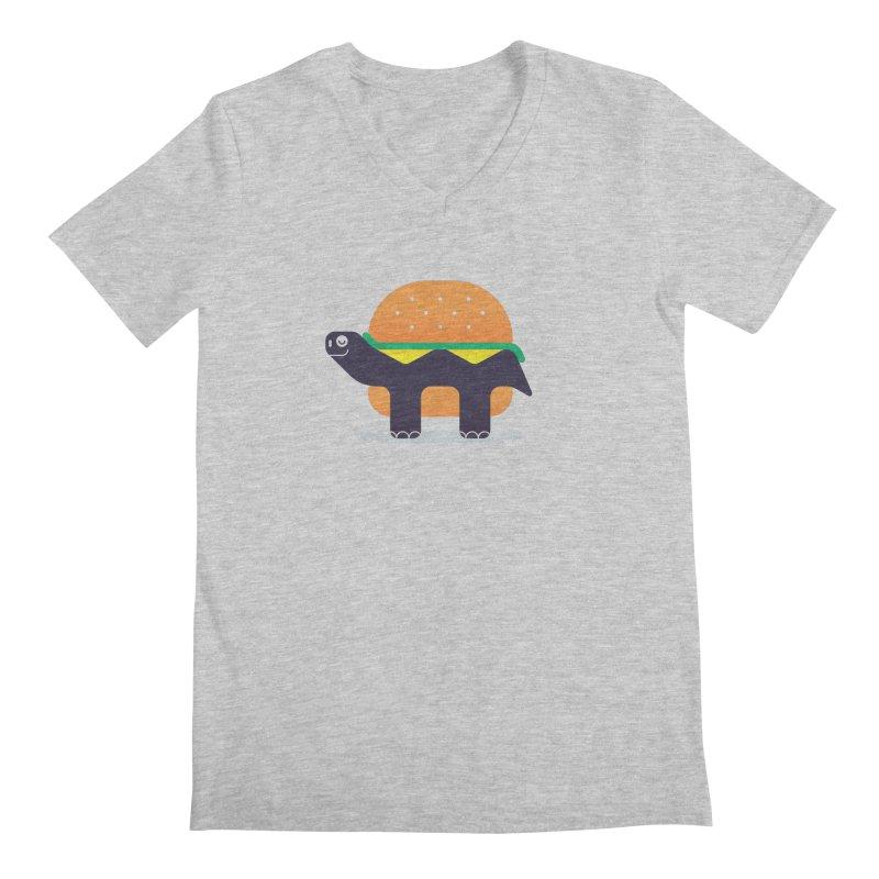 Turtle Burger Men's Regular V-Neck by Emporio de Mutanthands