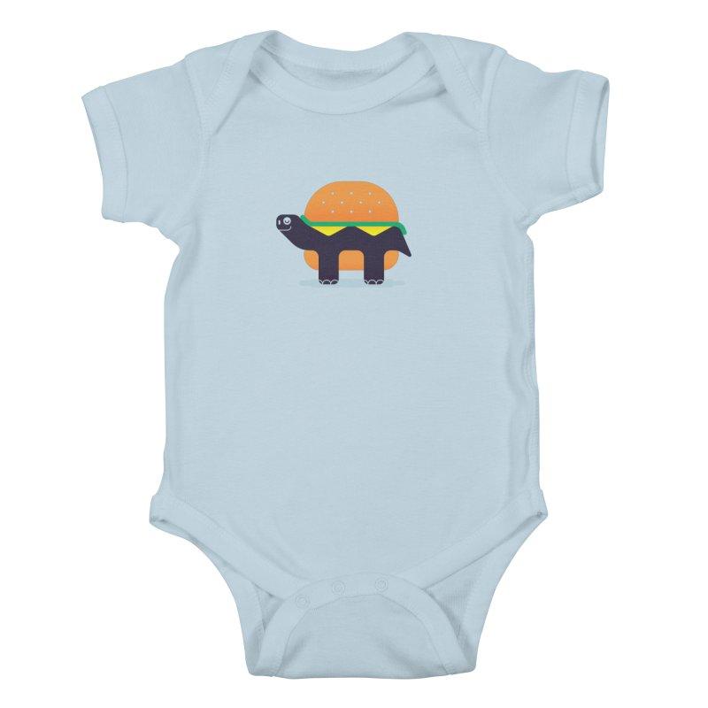 Turtle Burger Kids Baby Bodysuit by Emporio de Mutanthands