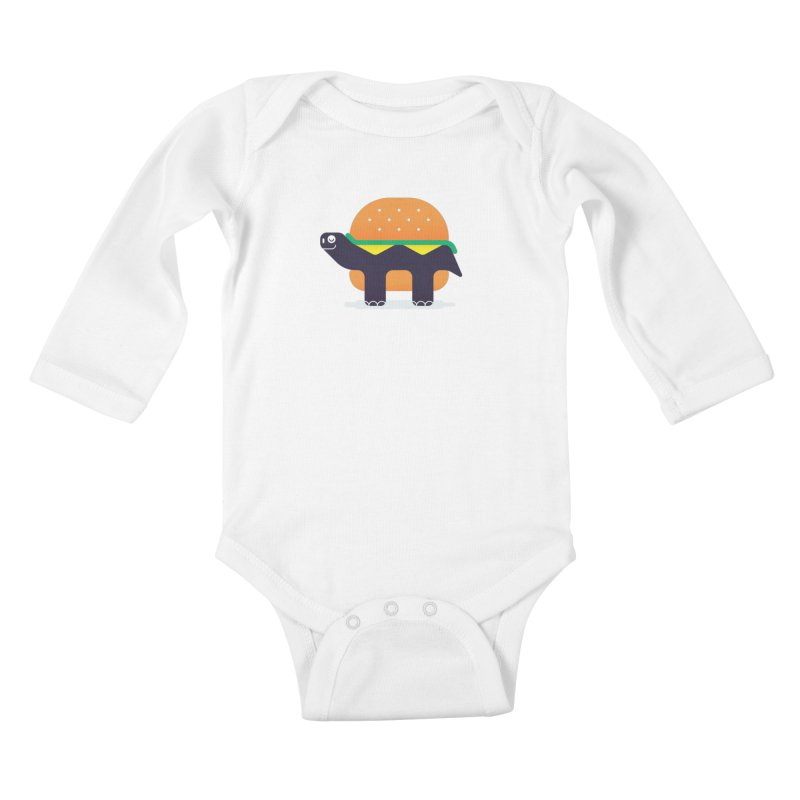 Turtle Burger Kids Baby Longsleeve Bodysuit by Emporio de Mutanthands