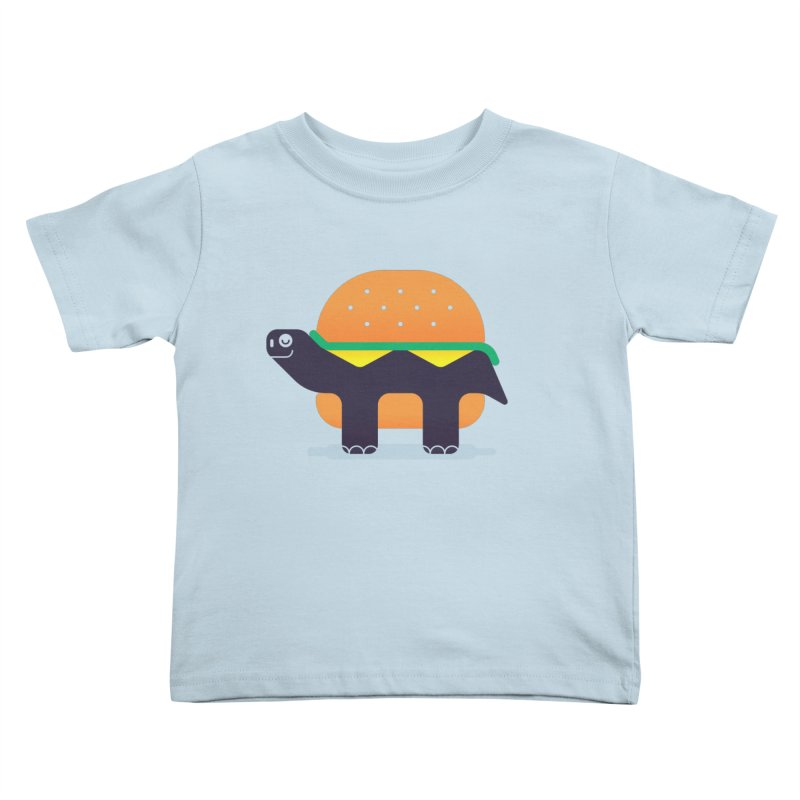 Turtle Burger Kids Toddler T-Shirt by Emporio de Mutanthands