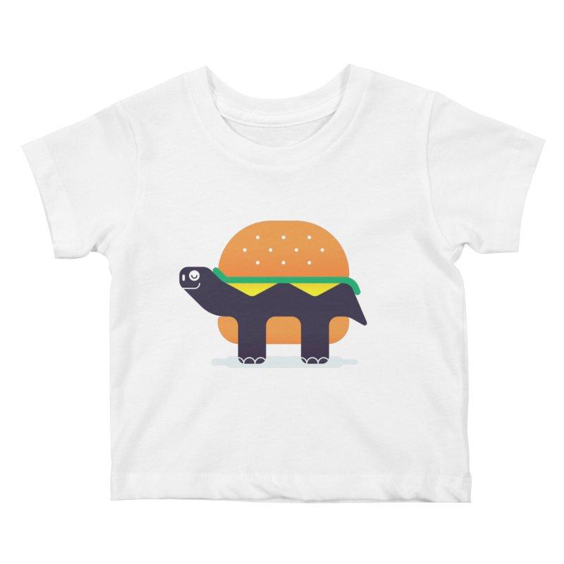 Turtle Burger Kids Baby T-Shirt by Emporio de Mutanthands