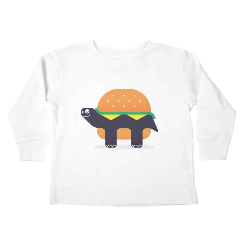 Turtle Burger Kids Toddler Longsleeve T-Shirt by Emporio de Mutanthands