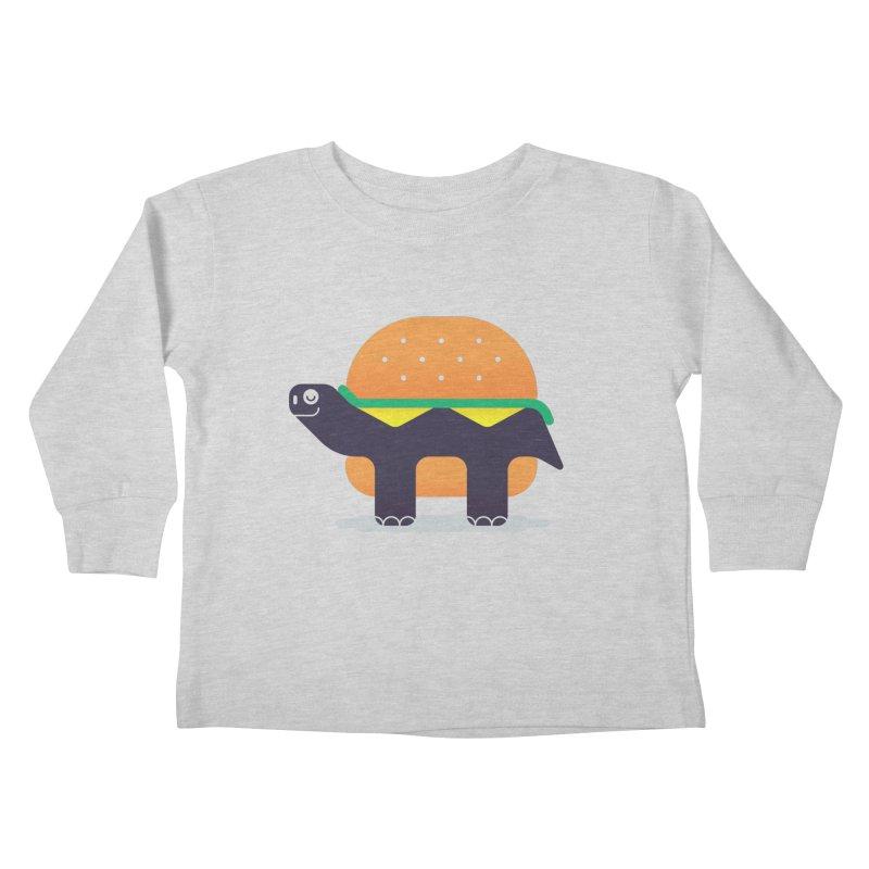Turtle Burger Kids Toddler Longsleeve T-Shirt by Emporio de Mutanthands