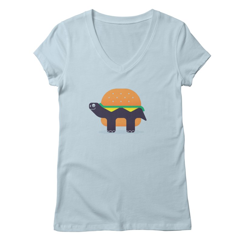 Turtle Burger Women's V-Neck by Emporio de Mutanthands