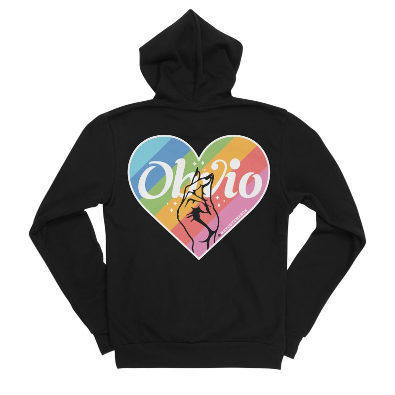 Obvio Pride Women's Sponge Fleece Zip-Up Hoody by Muy Cute Shop