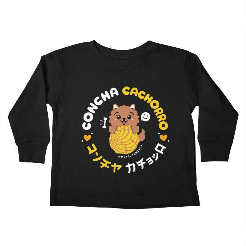Concha Cachorro Kids Toddler Longsleeve T-Shirt by Muy Cute Camisa Shop