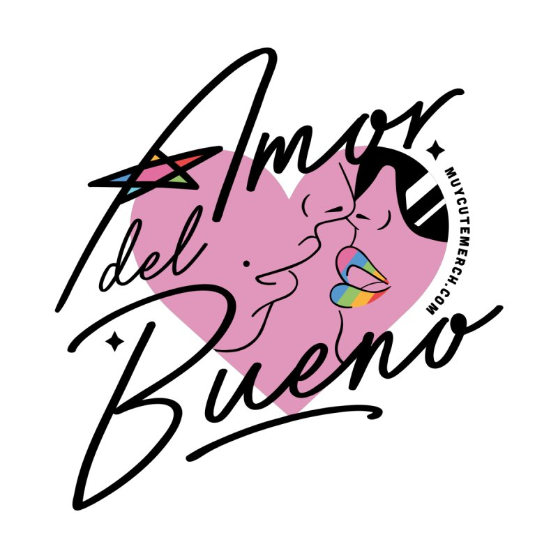 Amor Del Bueno (Black Text) Men's T-Shirt by Muy Cute Camisa Shop