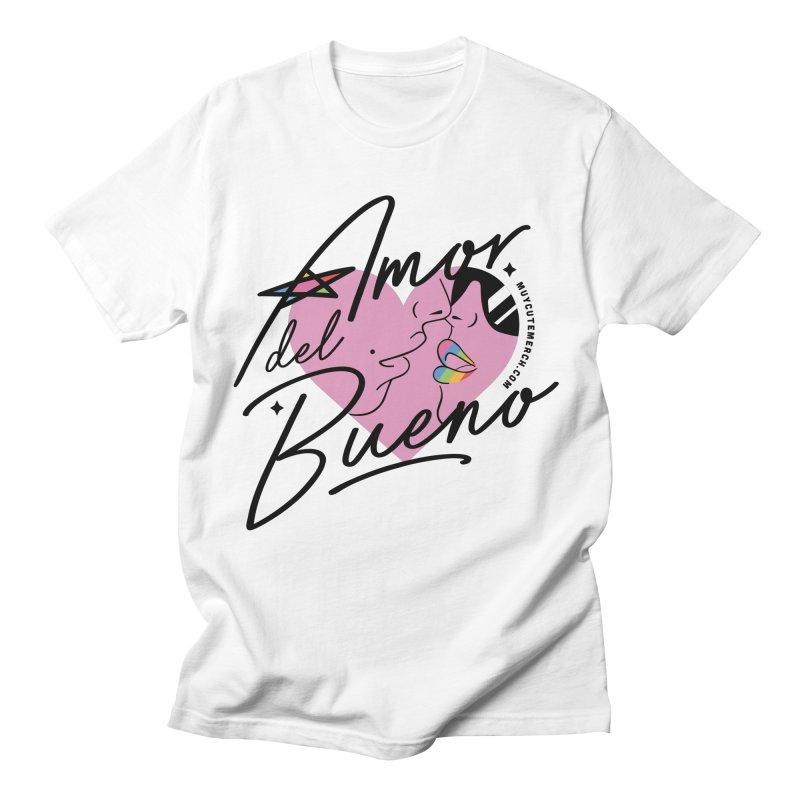 Amor Del Bueno (Black Text) Men's T-Shirt by Muy Cute Camisa Shop