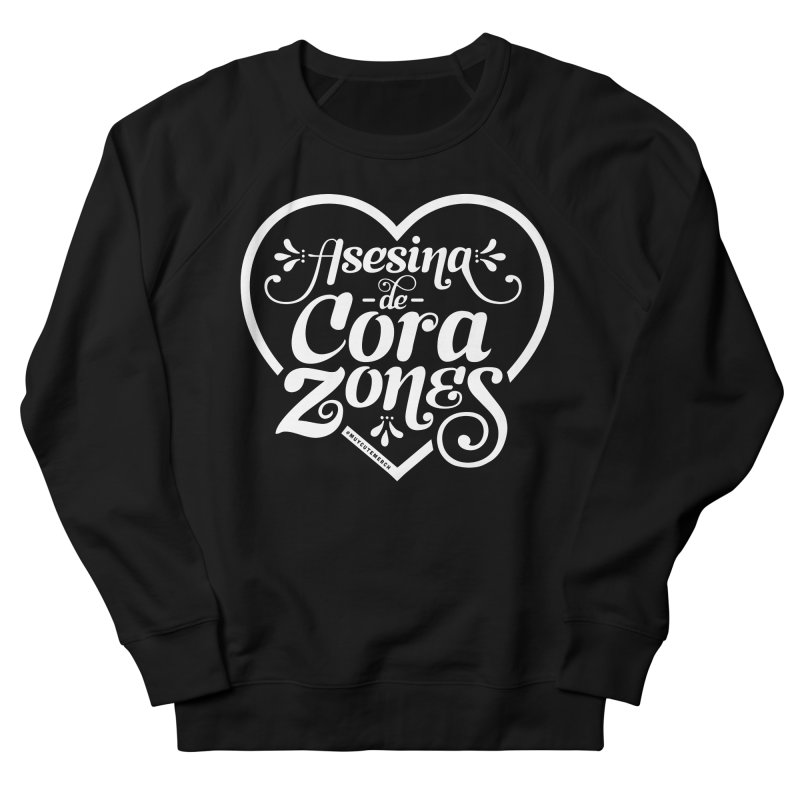 Asesina De Corazones (White Text) Women's Sweatshirt by Muy Cute Camisa Shop