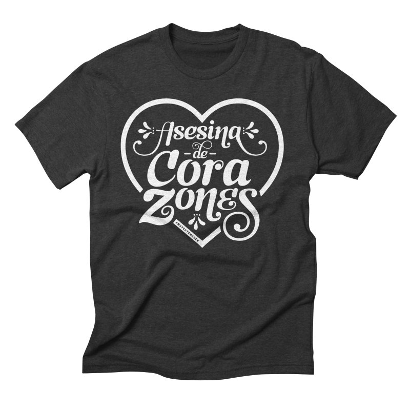 Asesina De Corazones (White Text) Men's T-Shirt by Muy Cute Camisa Shop