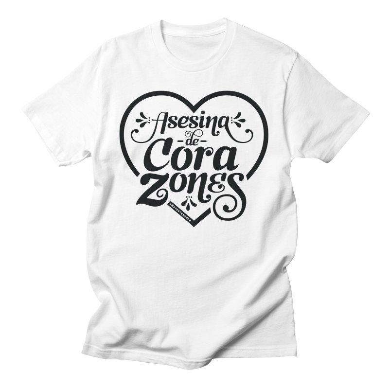 Asesina De Corazones (Black Text) Men's T-Shirt by Muy Cute Camisa Shop