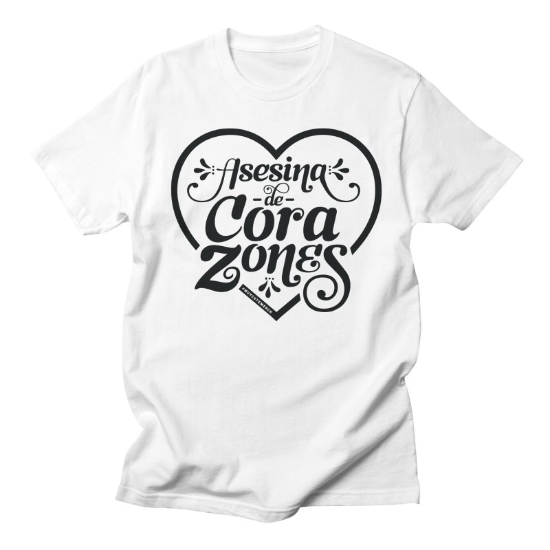 Asesina De Corazones (Black Graphic) Men's Regular T-Shirt by Muy Cute Shop