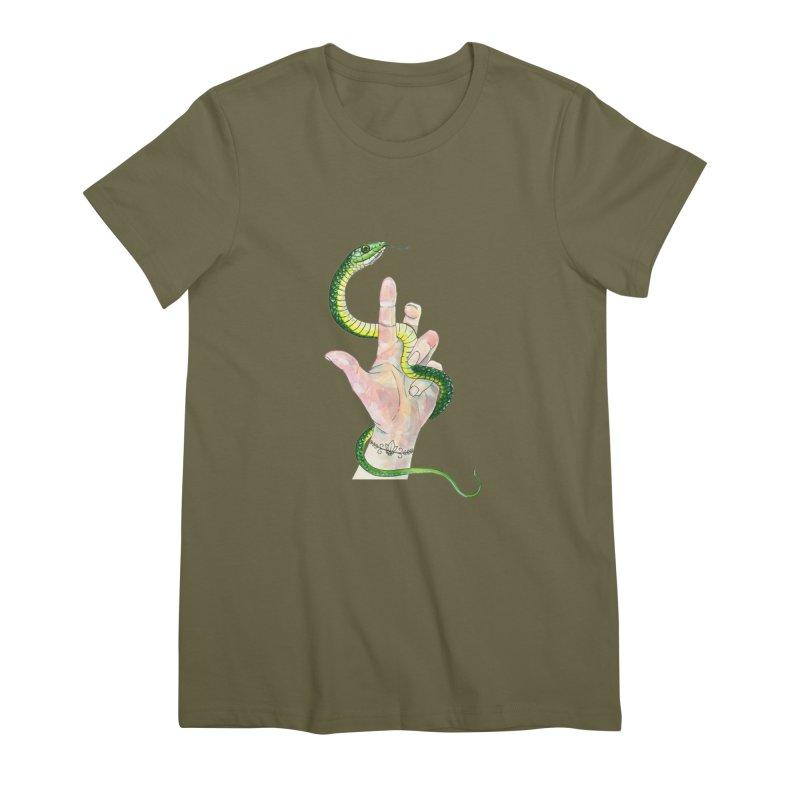 Snake Handler Women's Premium T-Shirt by mwashburnart's Artist Shop