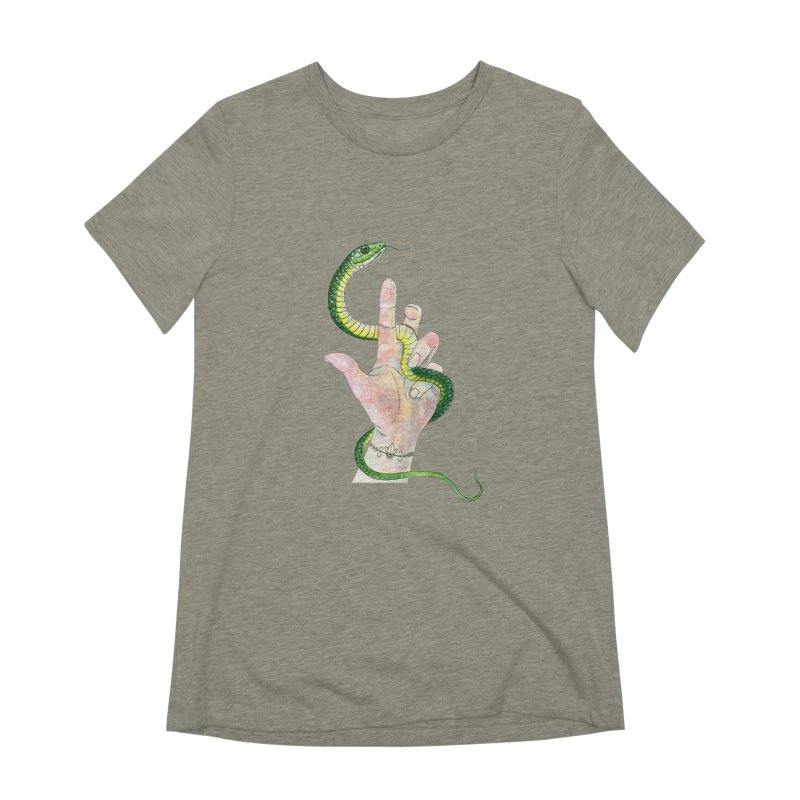 Snake Handler Women's Extra Soft T-Shirt by mwashburnart's Artist Shop