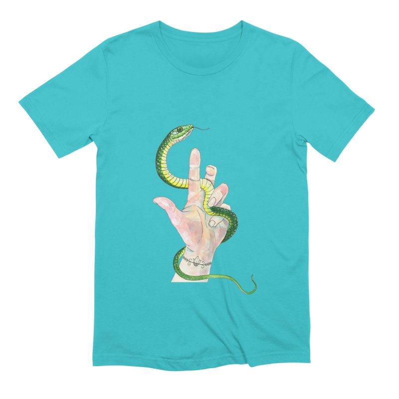 Snake Handler Men's Extra Soft T-Shirt by mwashburnart's Artist Shop