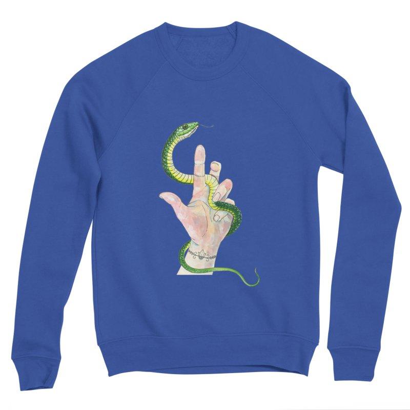Snake Handler Men's Sponge Fleece Sweatshirt by mwashburnart's Artist Shop