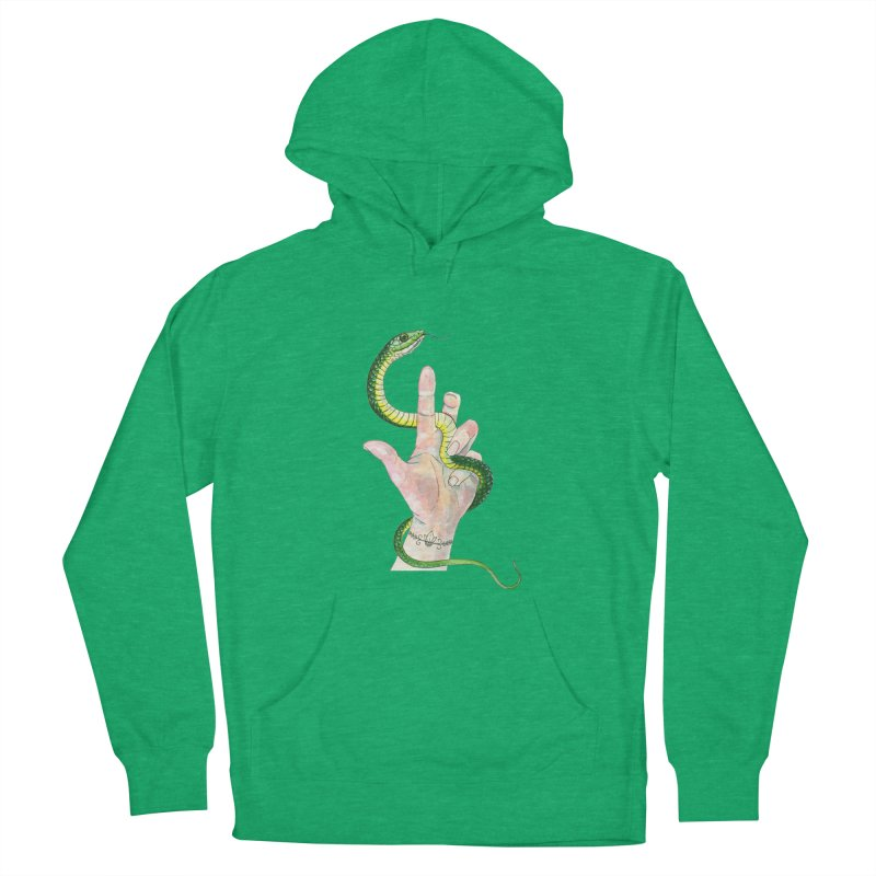 Snake Handler Women's French Terry Pullover Hoody by mwashburnart's Artist Shop