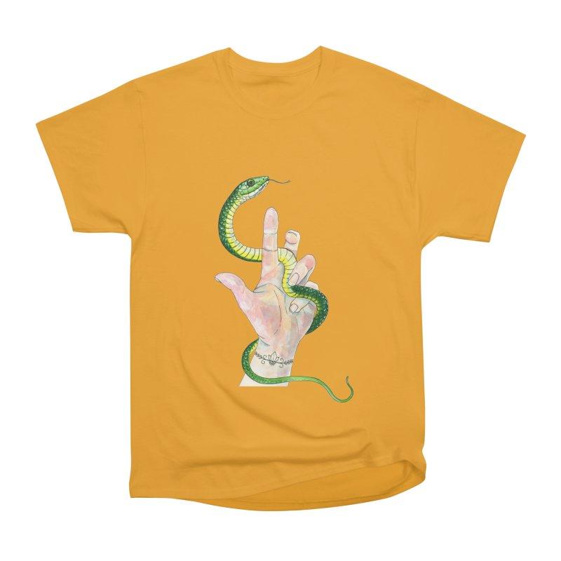 Snake Handler Women's Heavyweight Unisex T-Shirt by mwashburnart's Artist Shop